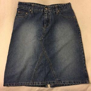 No Boundaries • Denim Midi Skirt